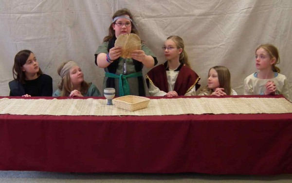 The Last Supper enacted by kids