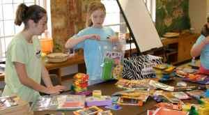 The Grad group organizes school supplies