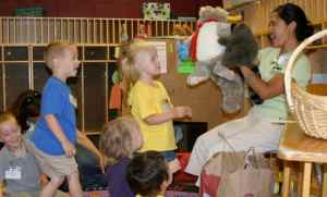Skyler the Puppet at PreK Bible Buddies