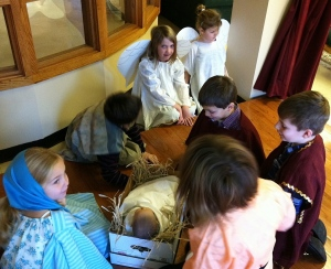 Drama Workshop - visitors to the new born King