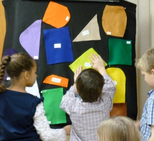 telling the story in the art workshop