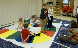 1st grade use the large game board in the Games Workshop