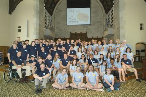 Group picture from Youth Worship 2011