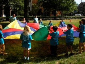 A parachute game