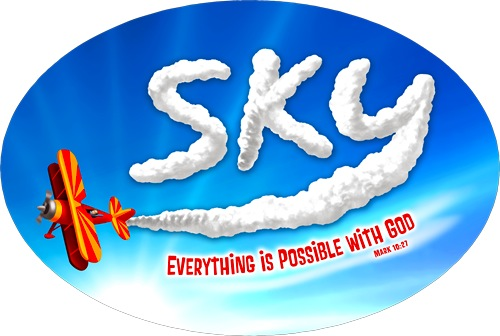 "The logo for ""Sky"" Vacation BIble Camp"