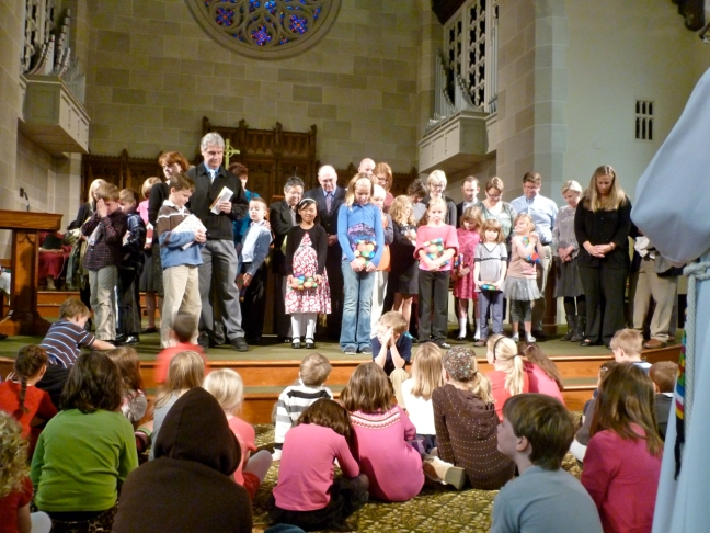 3rd graders receive Bibles