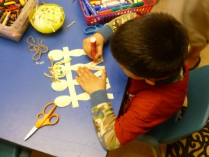 Pre-school Crafts - decorating friends & family