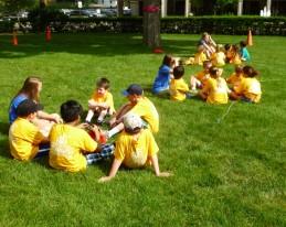 Talking time in knee-to-knee circles