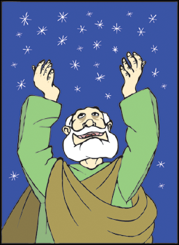 Abraham looking up at the stars