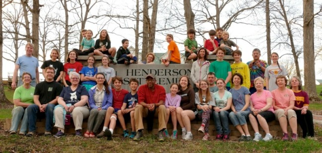 Participants on the mission trip to Henderson Settlement