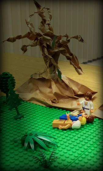 A Lego scene in the Garden of Gethsemane