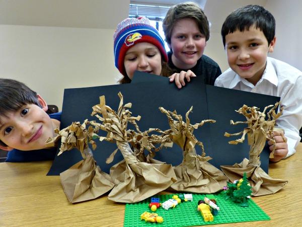 Lego creations of the Garden of Gethsemane