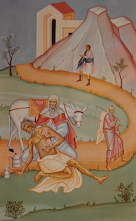 The Parable of The Good Samaritan is depicted in art